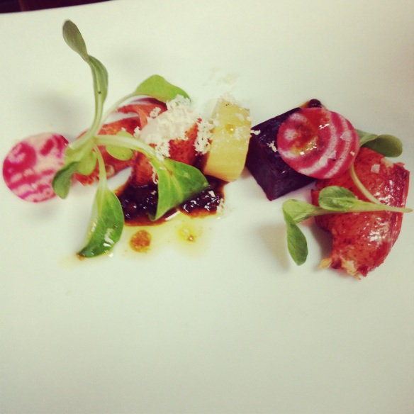 Lobster - beets - horseradish - rose hip vinaigrette